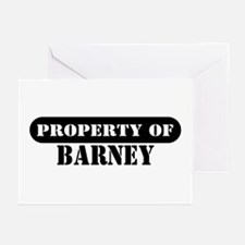Property of Barney Greeting Cards (Pk of 10)