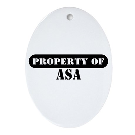 Property of Avery Oval Ornament