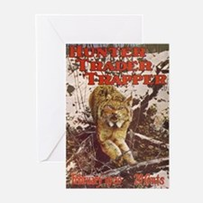 BOBCAT in trap Greeting Cards (Pk of 10)