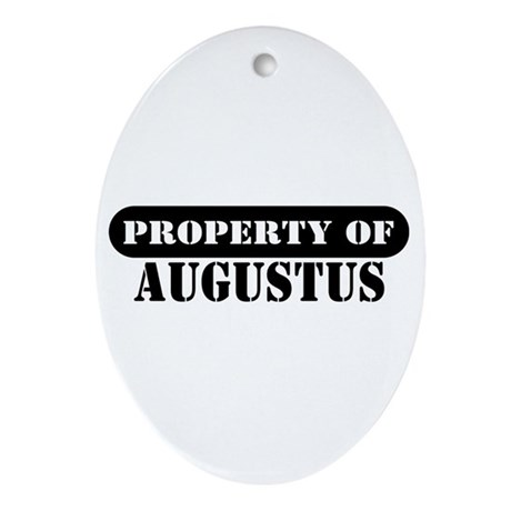 Property of Augustus Oval Ornament