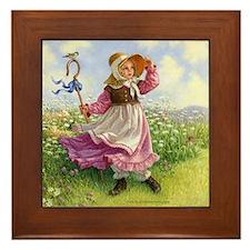 Little Bo Peep Framed Tile