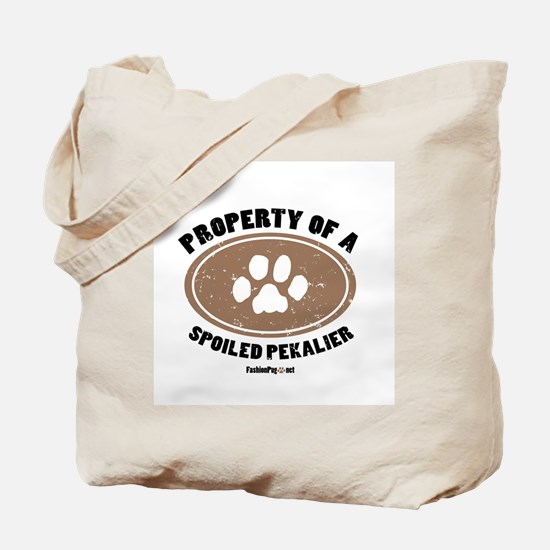 Pekalier dog Tote Bag