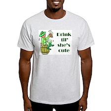 ST PATRICK'S DAY-IRISH DRINK Ash Grey T-Shirt