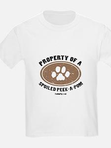 Peke-A-Pom dog Kids T-Shirt