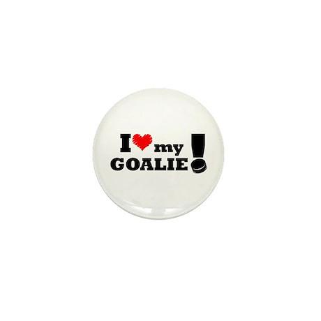 I Love My Goalie -Hockey Mini Button