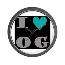 I Love O G Wall Clock