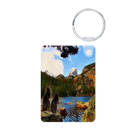 Bear Lake Aluminum Photo Keychain