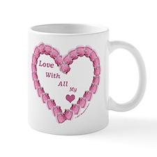 Memory Rose Heart Valentine Mug
