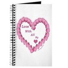 Memory Rose Heart Valentine Journal