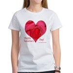 Red Rose in Heart Valentine Women's T-Shirt