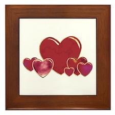 Valentine Hearts Framed Tile