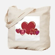 Valentine Hearts Tote Bag