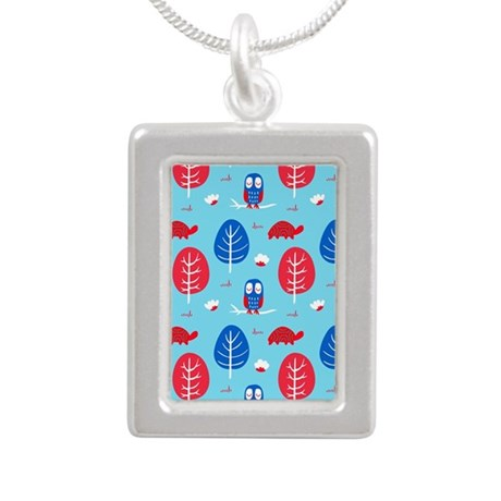Red Blue Owl Turtle Tree Necklaces
