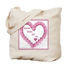 Memory Rose Heart Valentine Tote Bag