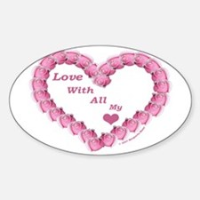 Memory Rose Heart Valentine Oval Decal