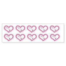 Memory Rose Heart Valentine Bumper Bumper Sticker