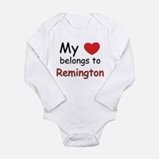 My heart belongs to remington Body Suit