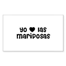 Yo * las mariposas Rectangle Decal