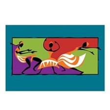 Caribbean Limbo Dance Postcards (Package of 8)
