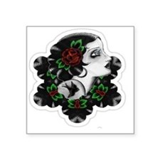 """TRADITIONAL ROSE BEAUTY Square Sticker 3"""" x 3"""""""