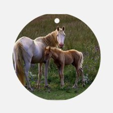 Mare and Foal Ornament (Round)
