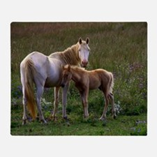 Mare and Foal Throw Blanket
