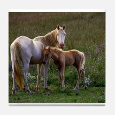 Mare and Foal Tile Coaster