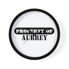 Property of Aubrey Wall Clock