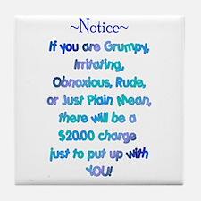 Notice - Blues Tile Coaster