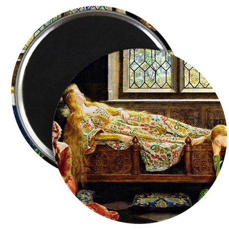 Sleeping Beauty, painting by John Maler Col Magnet