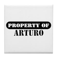 Property of Arturo Tile Coaster