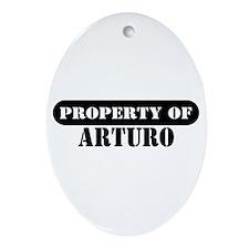 Property of Arturo Oval Ornament