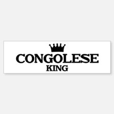 congolese King Bumper Bumper Bumper Sticker