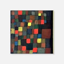 "Paul Klee - Abstract Color  Square Sticker 3"" x 3"""