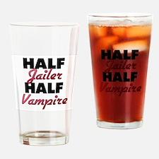 Half Jailer Half Vampire Drinking Glass