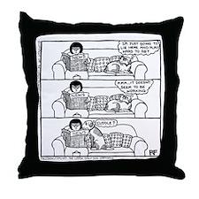 On The Sofa - Throw Pillow
