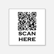 "QR CODE Square Sticker 3"" x 3"""