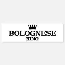 bolognese King Bumper Car Car Sticker