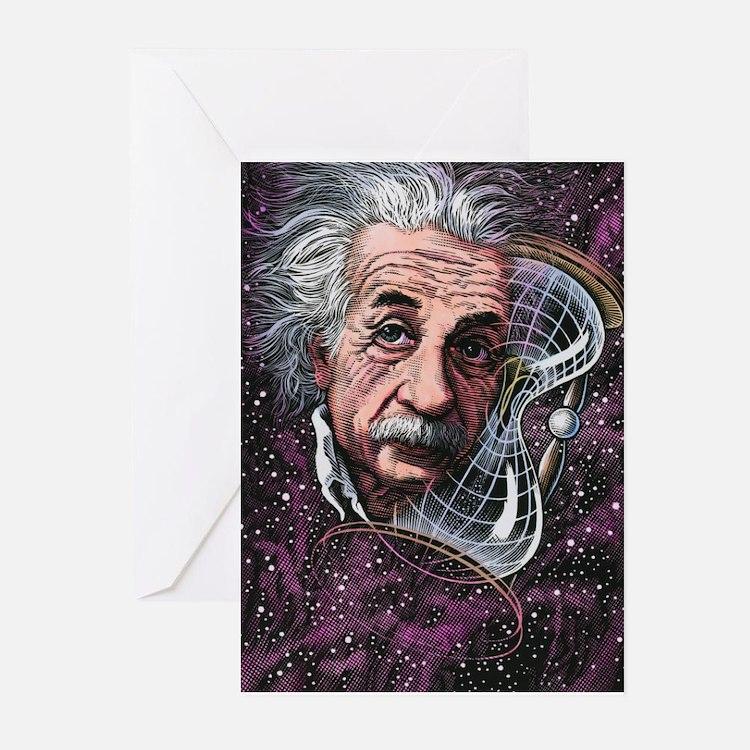 Albert Einstein, German physicist Greeting Cards