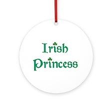 Irish Princess Green Ornament (Round)