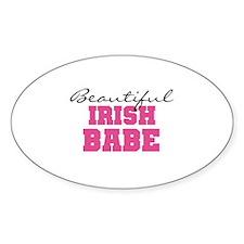 Irish Babe Oval Decal