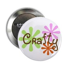 """Crafty 2.25"""" Button (10 pack)"""