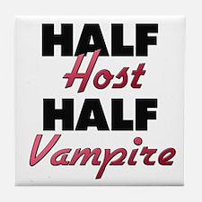 Half Host Half Vampire Tile Coaster