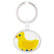 duckie Oval Keychain