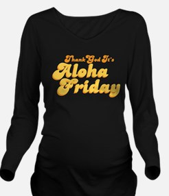 Thank God Its Aloha Friday Retro Long Sleeve Mater