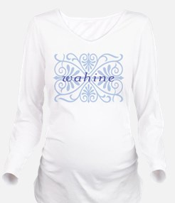 wahine2.png Long Sleeve Maternity T-Shirt