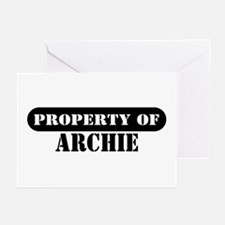 Property of Archie Greeting Cards (Pk of 10)