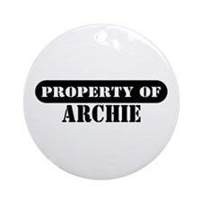 Property of Archie Ornament (Round)