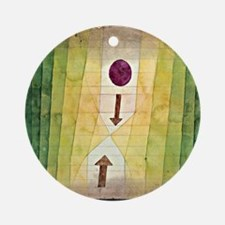 Paul Klee - Before the Blitz Round Ornament