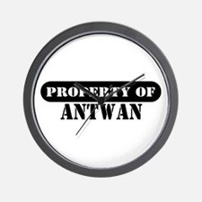 Property of Antwan Wall Clock